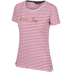 Regatta Olwyn Camiseta Mujer, true red stripe